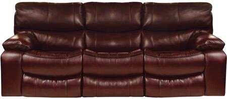 """Catnapper Camden Collection 4081- 90"""" Power Lay Flat Reclining Sofa with Black Welt Stitching, Faux Leather Upholstery and Bucket Seat Design in"""