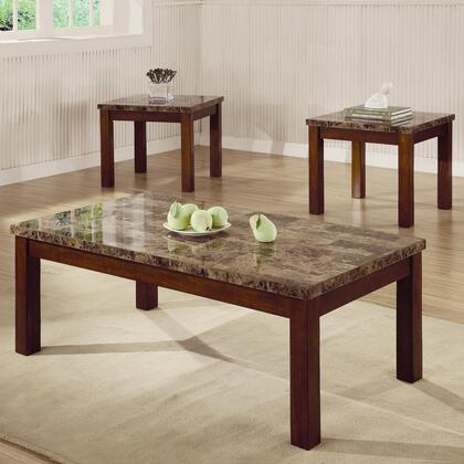"Coaster 700305 48"" Casual Living Room Table Set"