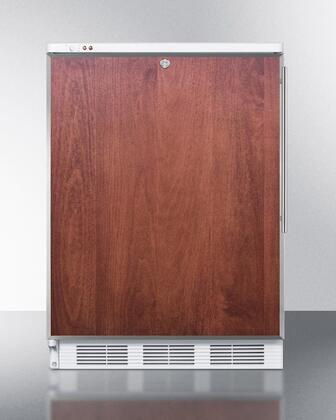 "Summit VT65MLBIFX 24"" Medical or Commercial Use Freezer with 3.5 cu. ft. Capacity, Factory Installed Lock, Adjustable Thermostat, -25 Degrees C Capable, and Manual Defrost: Panel Ready"