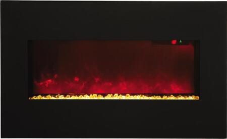 Amantii WMBI283421BLKGLS WMBI Series Wall Mountable Electric Fireplace