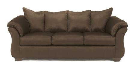 Signature Design by Ashley 7500X38 Darcy Contemporary Style Sofa with 3 Loose Seat Cushions and Sweeping Padded Arms in