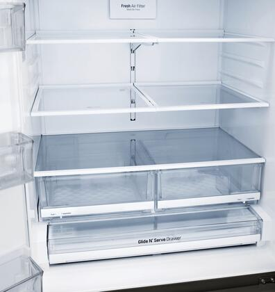 Lg Lfxs26973d 36 Inch French Door Refrigerator In Black
