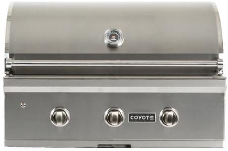 "Coyote CCX3 34"" C-Series Built-In Gas Grill with 3 I-Burners, 60000 BTU Burners, 780 sq. in. Cooking Surface Interior, in Stainless Steel"