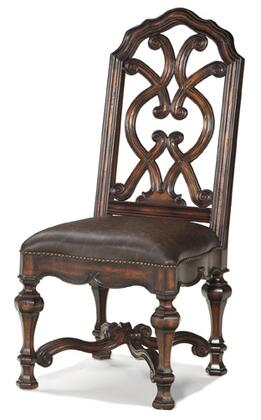 Ambella 24003610001 Worthington Series Traditional Leather Wooder Frame Dining Room Chair
