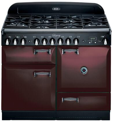 AGA ALEG44DFCDBRK Legacy Series Dual Fuel Freestanding Range with Sealed Burner Cooktop, 2.4 cu. ft. Primary Oven Capacity, Storage in Brick
