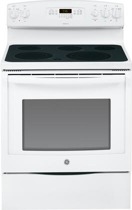 GE JB745DFWW Adora Series Freestanding Range with Smoothtop Cooktop, 5.3 cu. ft. Primary Oven Capacity, Storage in White