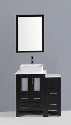 """36"""" Vanity and Mirror Front View"""