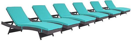 "Modway EEI2430EXPTRQSET 78.5"" Water Resistant Lounge Chair"