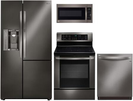 LG 732105 Black Stainless Steel Kitchen Appliance Packages
