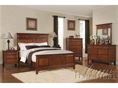 Acme Furniture 19440Q Harvest Series  Queen Size Panel Bed