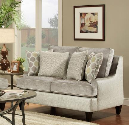 Chelsea Home Furniture 632128021 Catania Series Fabric Stationary with Wood Frame Loveseat