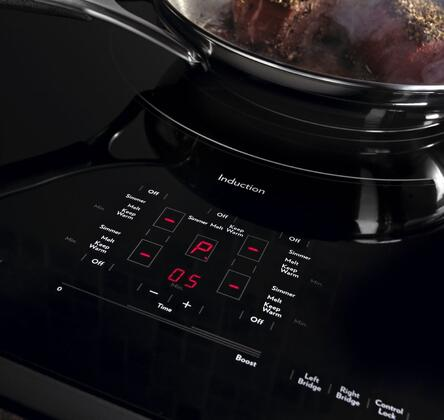 "Jenn-Air JIC4536XT 36"" Induction Cooktop with 5 Elements, Sensor Boil Function, Keep Warm  Function, Pan Detection, Touch-Activated Controls with Power Slider, in"