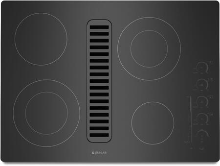 "Jenn-Air JED4430W 30"" Electric Radiant Downdraft Cooktop with Electronic Touch Control, 3 Fan Speeds, 4 Elements, and Ceran Glass Ceramic Surface, in"