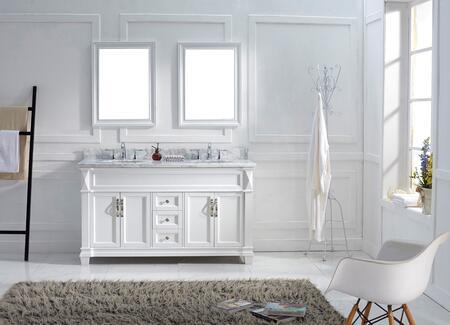 Virtu USA MD2660WMROWH White Double Sink