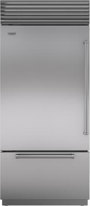 "Sub-Zero BI-36U/S/PH-XX 36"" Energy Star Built-In Bottom Freezer Refrigerator with 21.7 cu. ft. Total Capacity, Automatic Ice Maker, Air Purification System, and Water Filtration System, in"