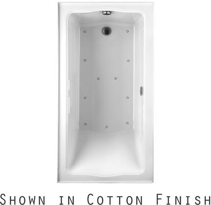 Toto ABR782R01NX Clayton Series Drop-In Airbath Tub with Acryclic Construction and Slip-Resistant Surface, Cotton Finish