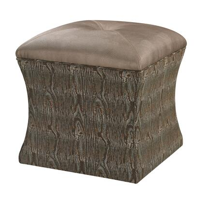 Sterling 139011 Luxe Series Faux Leather Wood Frame Ottoman