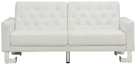 Casabianca TC5343WH Marino Series Convertible Bycast Leather Sofa
