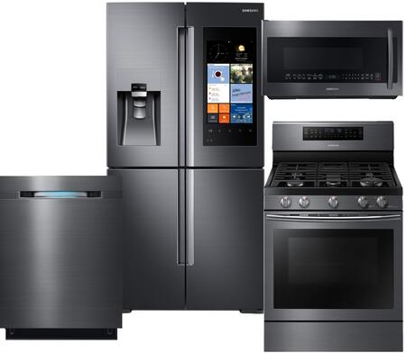 samsung 716554 family hub kitchen appliance packages | appliances