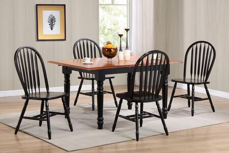 Sunset Trading DLUTLB3660820AW5PC Andrews Dining Room Sets