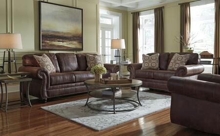 Milo Italia MI5559SFSET3PCBRN Catherine Living Room Sets