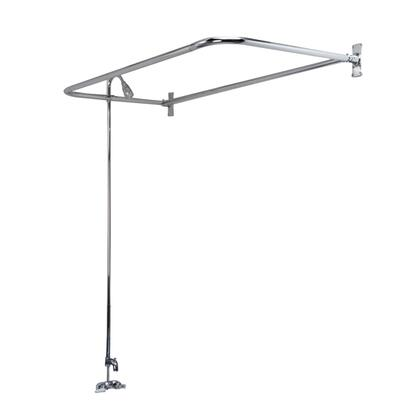 """Barclay 4191 """"D"""" Rod Converto Shower Unit with Code Spout, Plastic Shower Head and Plastic Lever Handles in"""