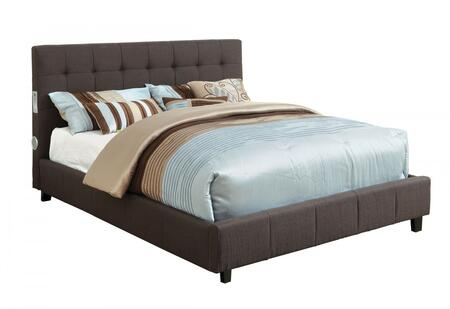 Furniture of America CM7060GYEKBED Dillan Series  King Size Bed