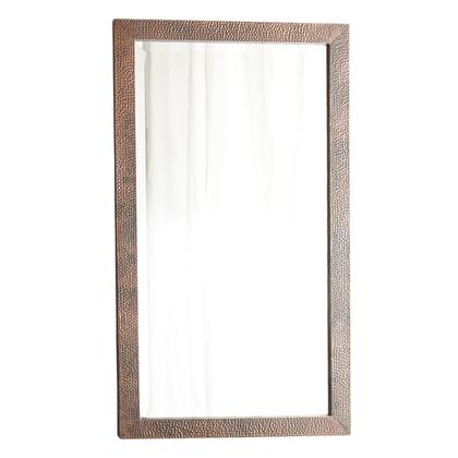 Native Trails CPM29 Milano Mirror with Beveled Glass, Hand Hammered Copper, Mounts Horizontal or Vertical and Finished in Antique Copper
