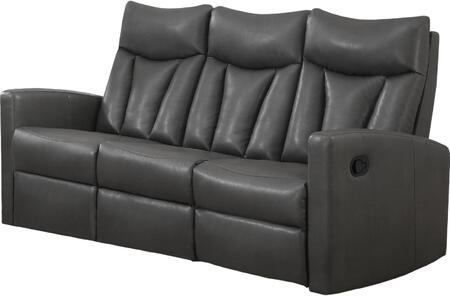 "Monarch I87Y 72"" Reclining Sofa with Bonded Leather, Lumbar Support and Comfortably Padded"