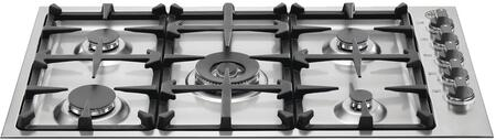 "Bertazzoni Q36M500 36"" Master Series Cooktop with 5 Burners, Seamless Surface and Integrated Design in Stainless Steel"
