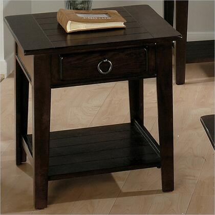 Jofran 0813 Transitional Rectangular 2 Drawers End Table