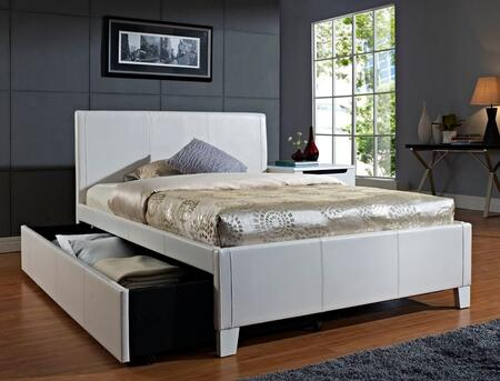 Fantasia White Bed with Trundle