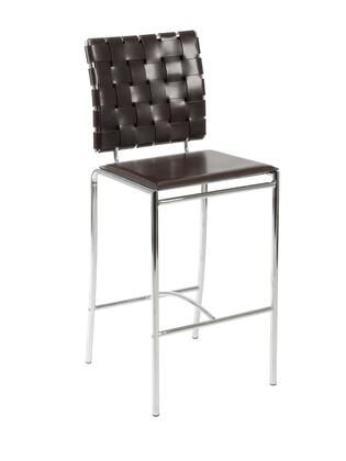 Euro Style 02422 Carina Series Leather Upholstered Bar Stool