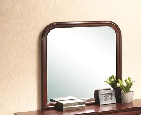 "Glory Furniture 38"" Mirror with Square Shape and Wood Veneer Construction in"