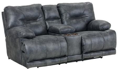 Catnapper 64389122853302853 Voyager Series Faux Leather Reclining with Metal Frame Loveseat