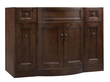 """Ronbow 060648- Marcello 48"""" Wood Vanity Cabinet with Double Wood Doors and Four Drawers: Cafe Walnut"""