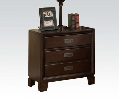 Acme Furniture 00163 Bellwood Series Square Wood Night Stand