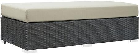 Modway EEI1863CHCBEI Rectangular Shape Patio Ottoman