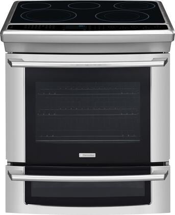 "Electrolux EI30ES55JS 30"" IQ-Touch Series Slide-in Electric Range with Smoothtop Cooktop Warming 4.2 cu. ft. Primary Oven Capacity"