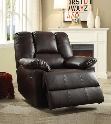 Acme Furniture 59430 Oliver Series Transitional Faux Leather Wood Frame  Recliners