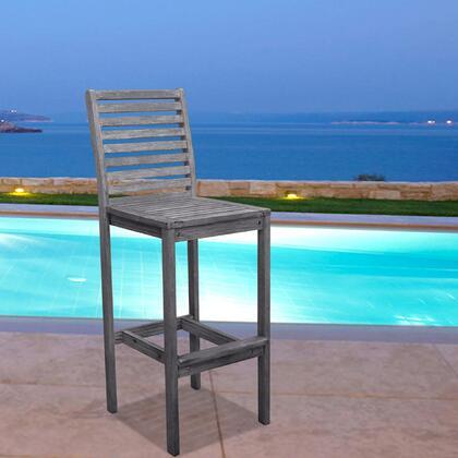 Vifah V1354  Wood Frame  Patio Side Chair