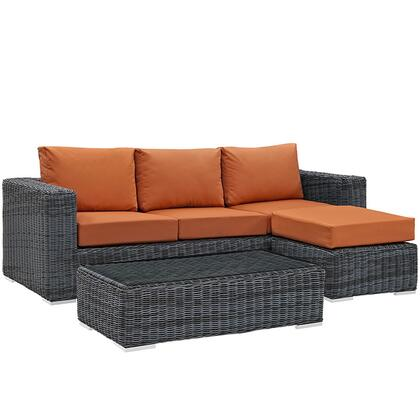 Modway EEI1903GRYTUSSET Rectangular Shape Patio Sets