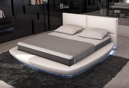 VIG Furniture VGINSFERICO Modrest Sferico - Modern Eco-Leather Bed with LED Lights