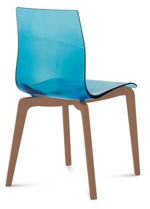 Domitalia GELSLSFNCASAZ Gel Series Transitional Wood Frame Dining Room Chair