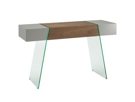 "Casabianca IL Vetro Collection CB-111-DR-CONSOLE 47"" Console Table with Glass Legs and MDF Construction in"