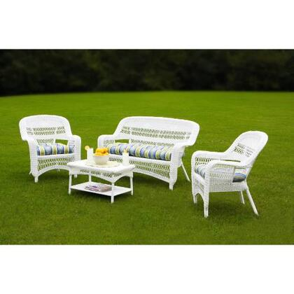 Tortuga PS4SWHITE Transitional Patio Sets