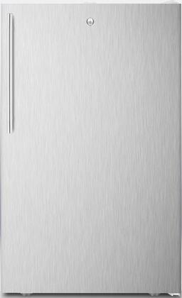 """AccuCold FF511L7SSX 20"""" ADA Compliant, Commercially Approved, Medical Compact Refrigerator with 4.1 cu. ft. Capacity, Crisper, Automatic Defrost and Door Lock:"""