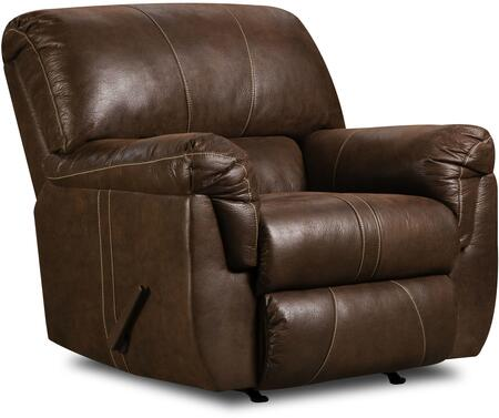 Simmons Upholstery 50364BR19RENEGADEMOCAH Renegade Series Contemporary Wood Frame  Recliners