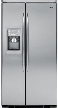GE PSDW3YGXSS  Side by Side Refrigerator with 23.2 cu. ft. Capacity in Stainless Steel