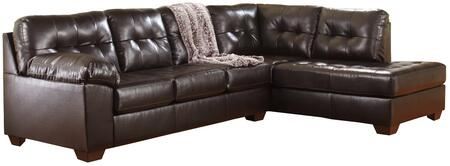 Milo Italia 2010X-16-67 Patricia Sectional Sofa with Left Arm Facing Corner Chaise and Right Arm Facing Sofa in